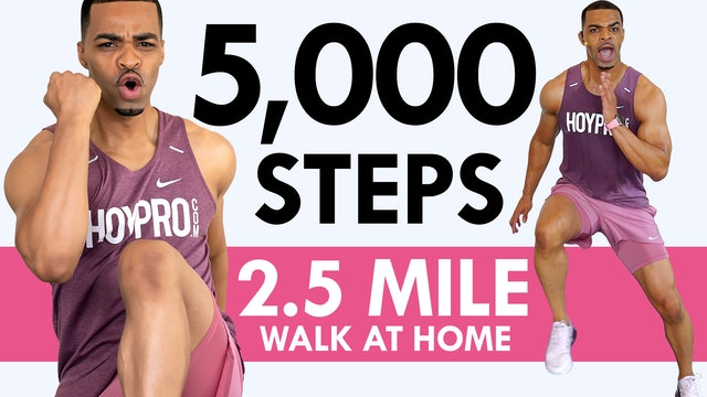 40 Min 5,000 Steps Indoor Walking No Jumping Workout