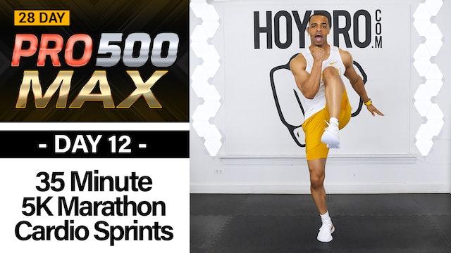 35 Minute Indoor 5K Marathon Cardio Workout 2.0 - PRO 500 MAX #12