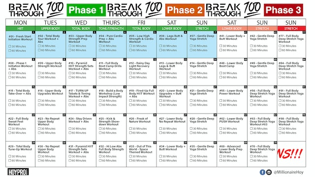 Breakthrough100 100 Day Calendar