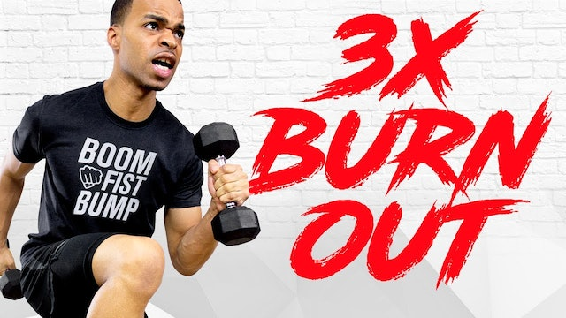 45 Minute Triple BURNOUT Survival HIIT, Strength, Toning Home Workout