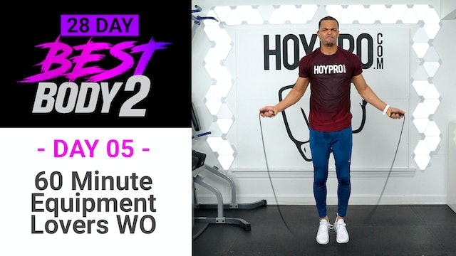 60 Minute Equipment Lover Workout w/ Abs - Best Body 2 #05