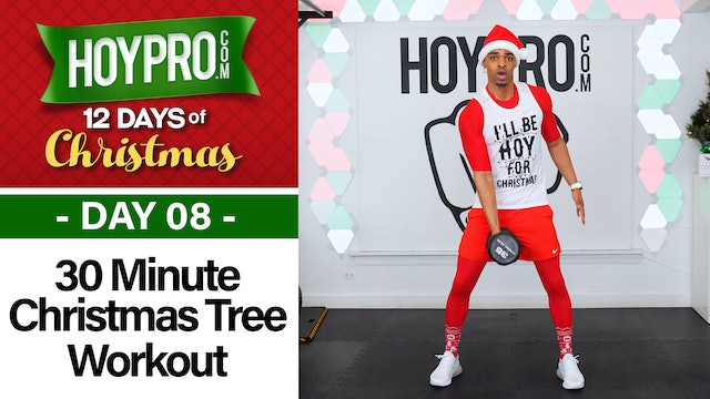 30 Minute Climbing Up the Christmas Tree Workout - 12 Days of Christmas #08