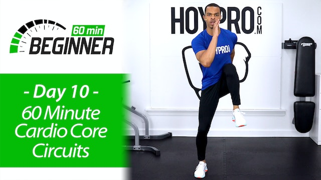 60 Minute Beginners Cardio Core Circuits + Abs Workout - Beginners 60 #10