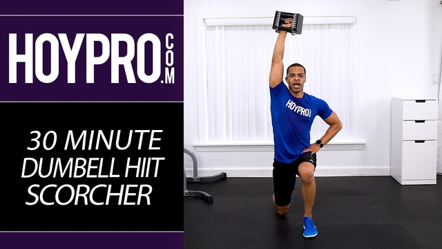 30 Minute Dumbbell HIIT Scorcher - Hybrid Total Body Fat Burning Workout