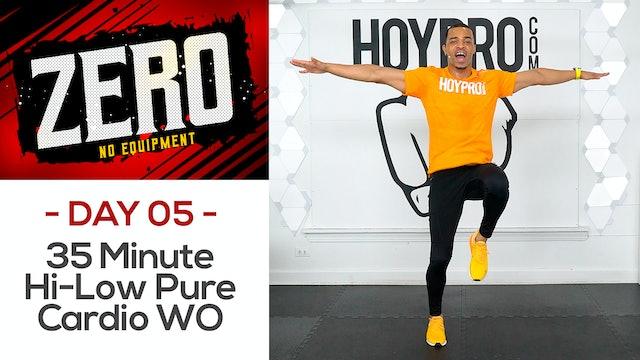 35 Minute Hi-Low Pure Cardio Tabata Workout - ZERO #05