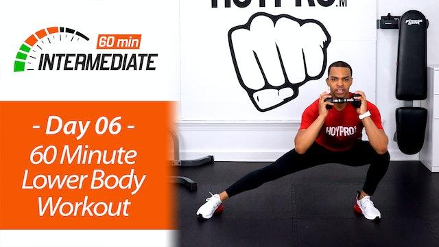 60 Minute Intermediate Lower Body Workout - Intermediate 60 #06