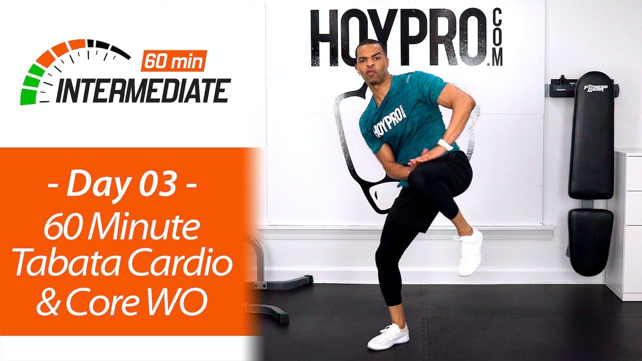 60 Minute Tabata Cardio Circuits + Core