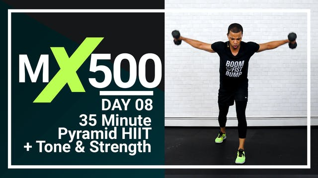 MX500 #08 - 35 Minute Pyramid HIIT Workout
