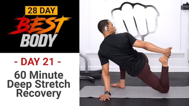 60 Minutes Deep Stretch Yoga Workout - Best Body #21
