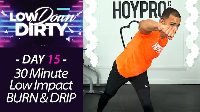 30 Minute DRIP - Low Impact Cardio HIIT Workout - Low Down #15