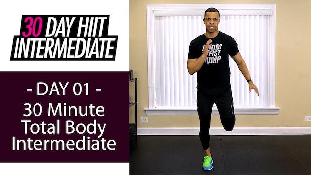 30 Minute Full Body No Equipment Workout - Intermediate #01