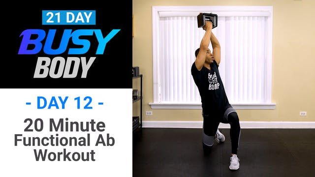 20 Minute Functional Abs Workout - Busy Body #12