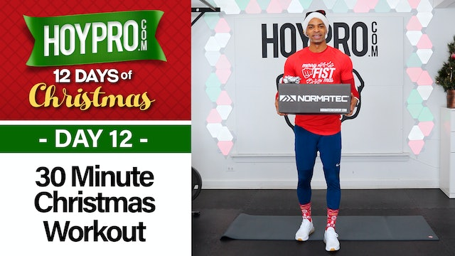 30 Minute Merry Christmas Hybrid HIIT Workout - 12 Days of Christmas #12