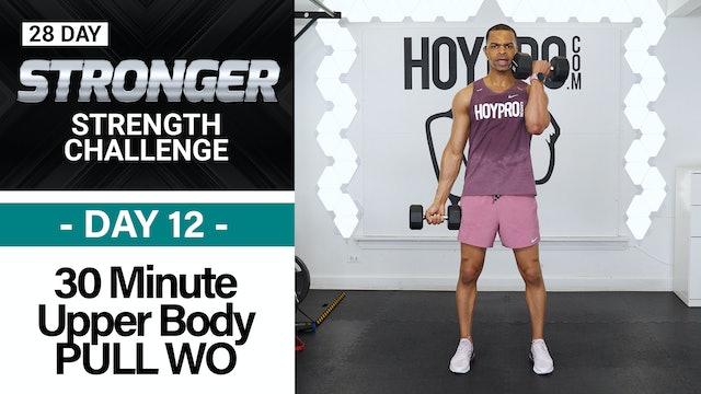 30 Minute Biceps, Back & Shoulders Workout - STRONGER #12