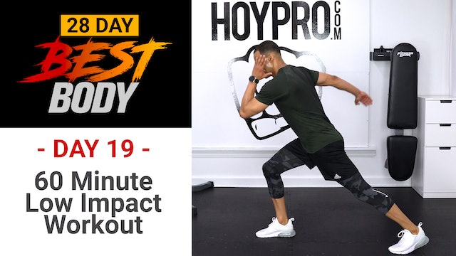 60 Minute Low Impact HIIT + Abs Workout - Best Body #19