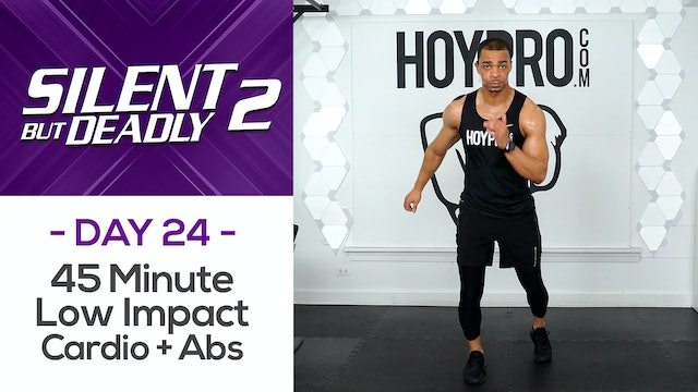 45 Minute Bodyweight Low Impact Workout + Abs - SBD2 #24
