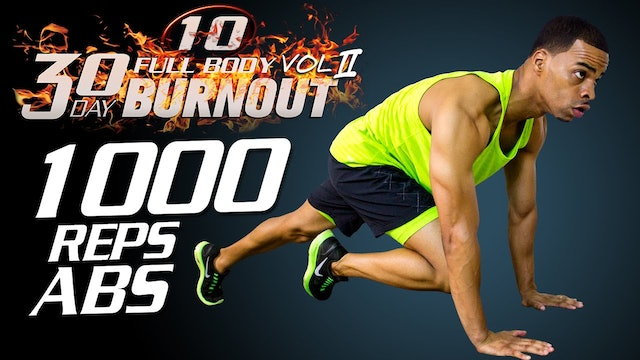 FBB2 #10 - 45 Minute 1000 Rep Abs Belly Burn Workout Challenge