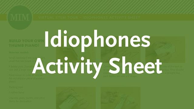 6 – Idiophones Activity Sheet
