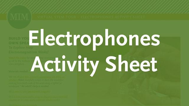 5 – Electrophones Activity Sheet