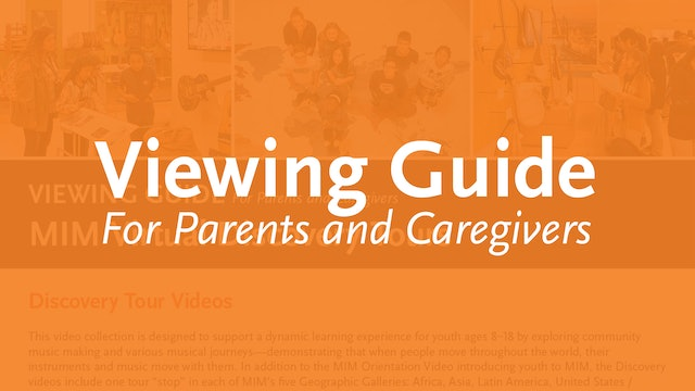 Discovery Tour Viewing Guide for Parents and Caregivers