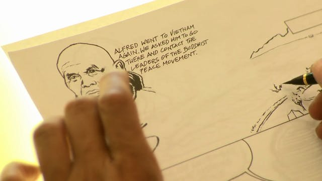 T5P Video Extras - Part 2 - Comic book creation and drawing - Thich Nhat Hanh HD