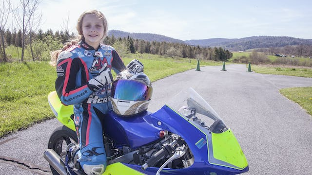10-Year-Old Motorcyclist Racing The P...