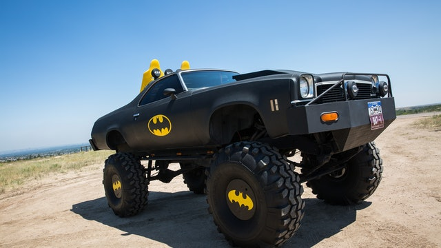 Holy Cow! The Batmobile On 44-Inch Wheels