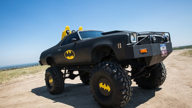 Holy Cow! The Batmobile On 44-Inch Wh...