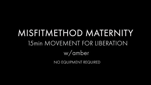 MISFITMATERNITY - Movement for Liberation w/ Amber - 15 mins