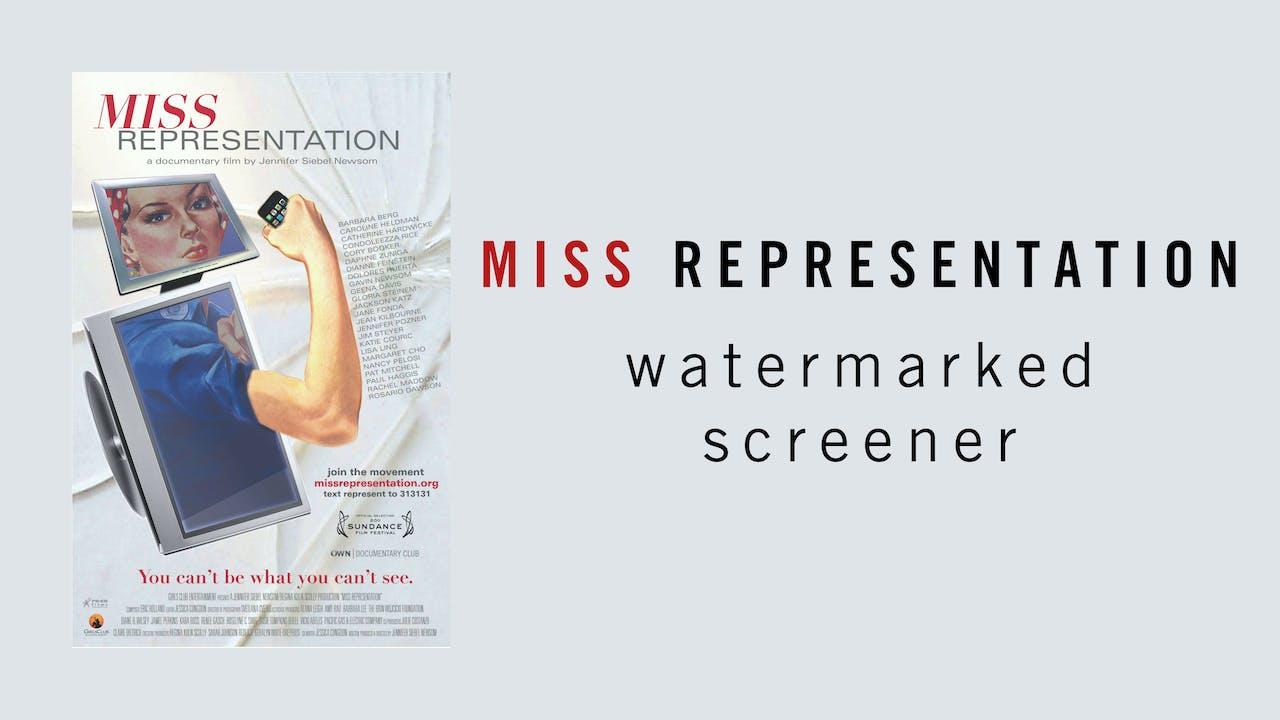 Miss Representation Watermarked Screener