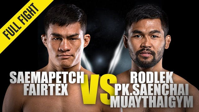 Saemapetch vs Rodlek ONE Championship