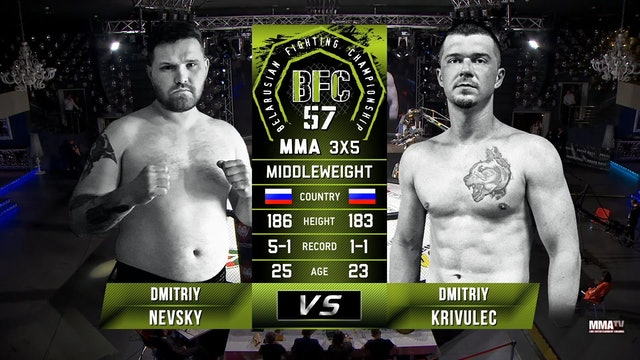 8 BFC 57 Dmitriy Nevsky vs Dmitriy Krivulec Russian Commentary