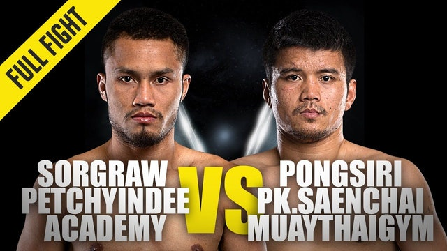 Sorgraw vs Pongsiri PK ONE Championship