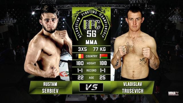 9 BFC 56 Rustam Serbiev vs Vladislav Trusevich Russian Commentary