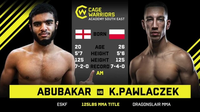 #CWSE23 - Abubakar V Pawlaczek - 125lbs Amateur MMA Title Contest