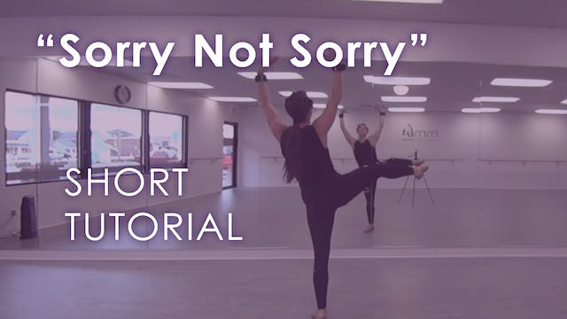 """Sorry Not Sorry"" - Tutorial"