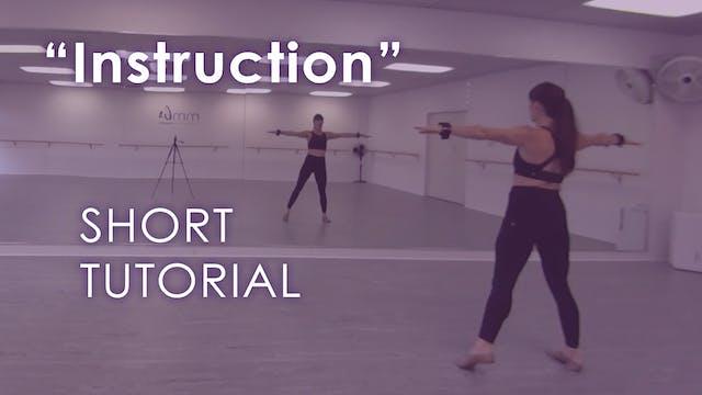 """""""Instruction"""" - Short Tutorial"""