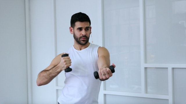 Toned Arms and Abs - Using Hand Weights