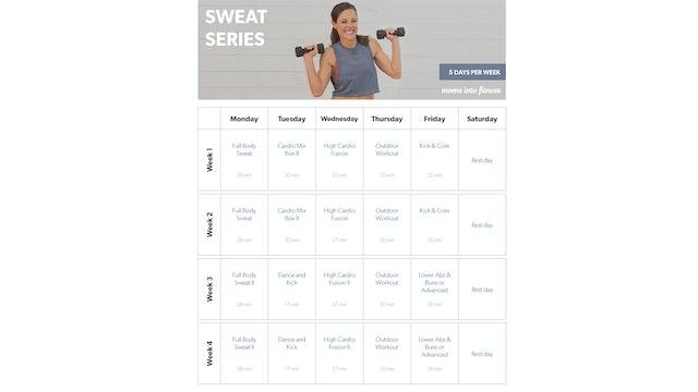 5 Days per Week SWEAT Calendar