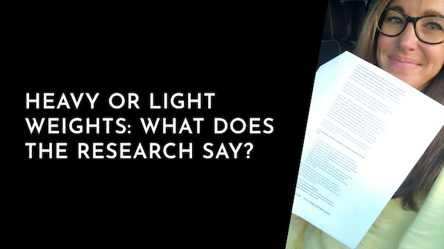 Stories: Heavy or Light Weights ... what does the research say?