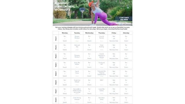 Running Supplemental Calendar (clickable & printable)