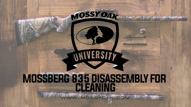 Mossberg 835 Disassembly For Cleaning