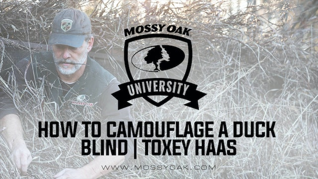How To Camouflage A Duck Blind | Toxey Haas