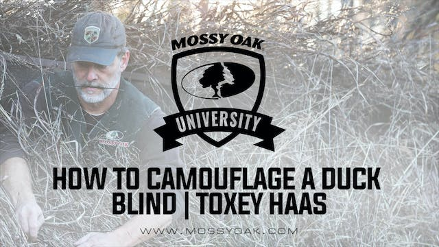 How To Camouflage A Duck Blind | Toxe...
