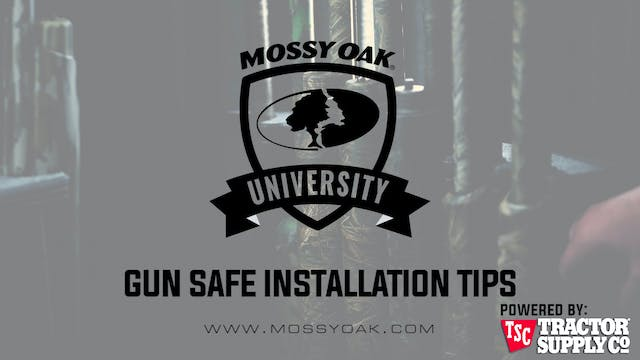 Gun Safe Installation Tips • MOU