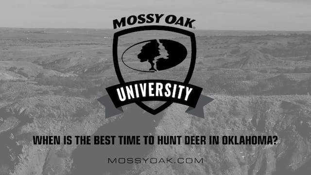 Oklahoma Hunting Tips 07 - When is th...