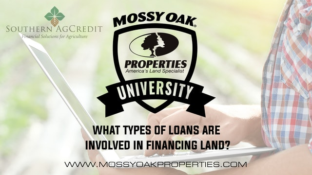 What Types Of Loans Are Involved In Financing Land?