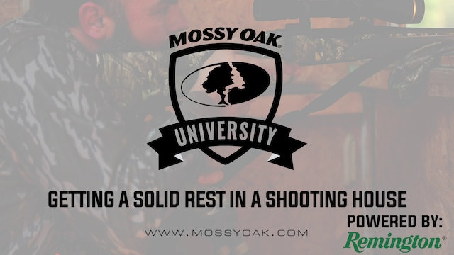 Getting Solid Rest In Shooting House • Mossy Oak University
