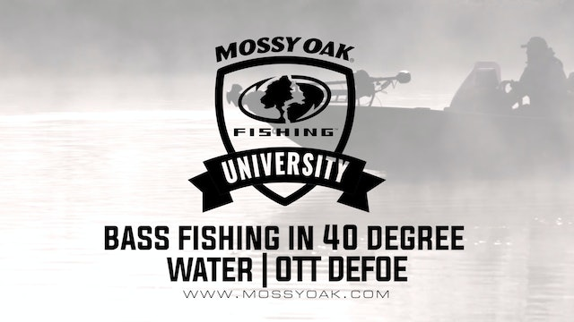 Bass Fishing in 40 Degree Water - Ott DeFoe Fishing Tips