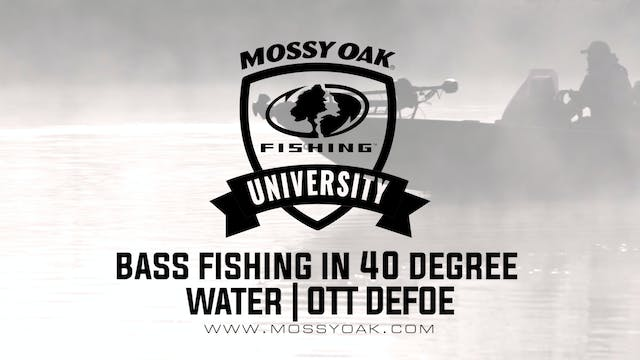 Bass Fishing in 40 Degree Water - Ott...